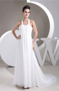 White Vintage Bridal Gowns Inexpensive Informal Casual Summer Low Back Winter