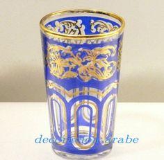 - Juego de 6 vasos para el té de color azul - Decoración Árabe
