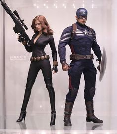 Agents of S. Black Widow and Captain America customized by me Marvel Heroes, Marvel Characters, Marvel Dc, Captain America Black Widow, Natalia Romanova, Superhero Fashion, Romanogers, Female Poses, Funny Art