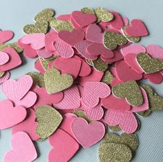 Confetti! Adorable shades of Coral and Guava + Gold Glitter | Pink Themes for Summer Weddings and Bridal Showers