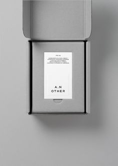 Packaging design inspiration - New Graphic Identity for A N Other by Socio Design — BP&O – Packaging design inspiration Luxury Packaging, Brand Packaging, Design Packaging, Box Packaging, Product Packaging, Coffee Packaging, Smart Packaging, Luxury Branding, Web Design Company