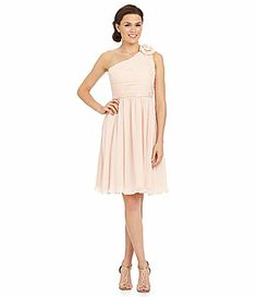 JS Collections Bridesmaid OneShoulder Short Dress #Dillards