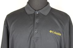 Columbia PFG Mens Short Sleeve Athletic Polo Shirt sz L Large Black #Columbia #PoloRugby