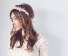 BLUSH  baby's breath mini crown mini halo by TheSunflowerStand, $50.00 || This is another possibility!