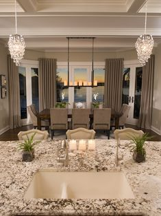This is awesome...probably would choose a different light over the table but the rest is so elegant.