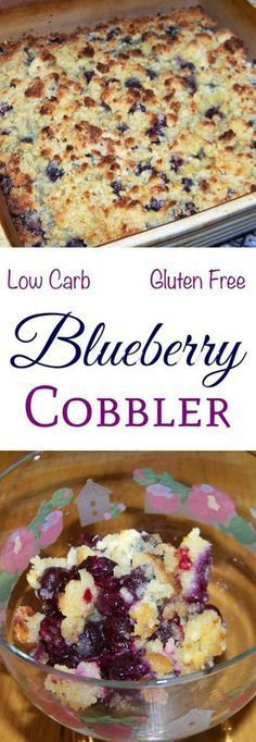 Want a delicious berry dessert? This is a really simple low carb blueberry cobbler recipe with a