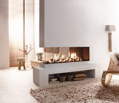 Most current No Cost Contemporary Fireplace gas Thoughts Modern fireplace designs can cover a broader category compared for their contemporary counterparts. Small Living Room Decor, 3 Sided Fireplace, Contemporary Fireplace, Fireplace Design, Contemporary Decor, Contemporary House, Contemporary Bedroom, Indoor Fireplace, Modern Fireplace