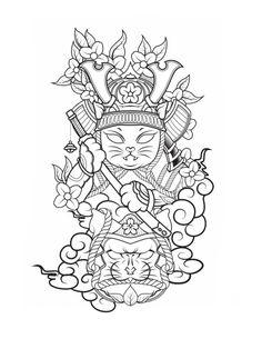 Pop Art Tattoos, Tattoo Drawings, Japanese Tattoo Art, Japanese Art, Half Sleeve Tattoo Stencils, Daruma Doll Tattoo, Desenho New School, Lucky Cat Tattoo, Lion King Pictures