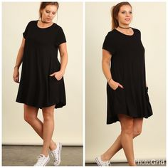 Plus--One Hour Super Sale--Fav Black Dress #2