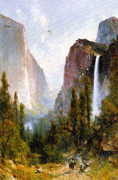 The Athenaeum - Bridal Veil Fall, Yosemite Valley (Thomas Hill - )