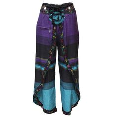 Wrap Around Boho Pants | The Hippy Clothing Co. maybe with vertical stripe or solid with pattern trim?