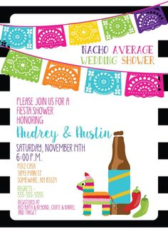 551ade13e255 Mexican Fiesta Invitation - Papel Picado Bunting Bridal Shower ...