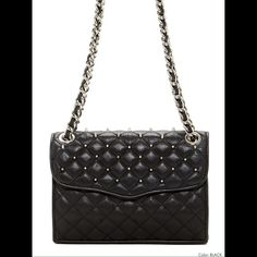 Rebecca Minkoff Quilted Mini Affair with Studs Fun quilted handbag with adjustable chain strap for both shoulder and crossbody Rebecca Minkoff Bags