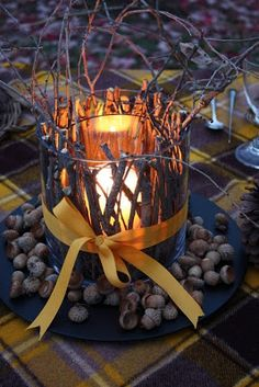 6 Fall Inspired Candle Decor