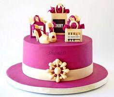 Designer Shopping Bag and Shoe Cake