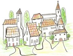 Little Village by Sandra Clayton in Artwork on Sandra Clayton's Art and Photography