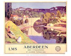 Aberdeen Brig o' balgownie Art Print