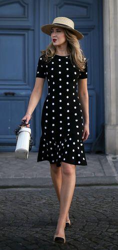 New Dress Spring Casual Earrings Ideas Spring Dresses Casual, Trendy Dresses, Nice Dresses, Dress Casual, Nyc Fashion, Trendy Fashion, Spring Fashion, Office Fashion, Fashion Black
