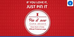 State Bank of India is now on Pinterest. Come aboard! Pin us at https://www.pinterest.com/TheOfficialSBI