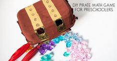 Create your own Pirate Maths Game for counting and sorting ideal for preschoolers. Make a treasure chest and the sort and count the pirate's treasure. Preschool Math Games, Sorting Games, Teaching Math, Maths, Hands On Learning, Hands On Activities, Science Activities, Summer Activities, Crafts For Kids