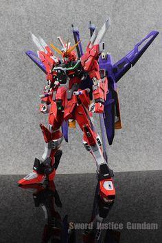 Gundam Family: MG 1/100 Infinite Justice Gundam Custom Build