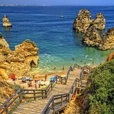 Lagos, Portugal - This city which is small, is known best for is great beaches and water activities. The city still has surrounding walls which were built in the 16th century. Located just a few hours south of Lisbon, the city of Lagos makes an excellent side trip for any vacation to Lisbon. TravelingWarrior.com knows you will just love your next vacation to the coast of Portugal. (https://www.facebook.com/TravelingWarrior) #Portugal #attractions #Lagos
