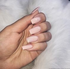 Nude pink nails