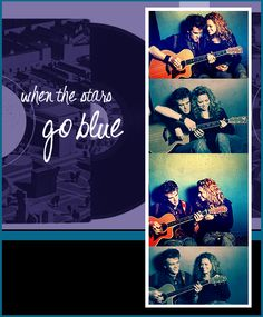 when the stars go blue. Love Tyler and Joy's cover if this song for the show.