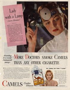 Vintage cigarette ads [or ads with cigarettes]