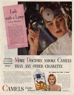 Vintage cigarette ads [or ads with cigarettes]