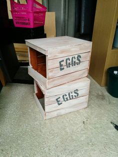 Stackable, removable nest box crates for chickens and hens
