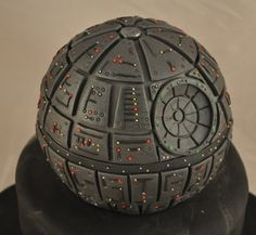 Death Star cake. 851 pieces of fondant and 25 man hours to make. Amazing! (And this was for a 5 year old!)