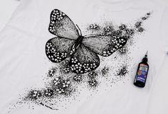 Camiseta com pintura - Portal de Artesanato - O melhor site de artesanato com passo a passo gratuito