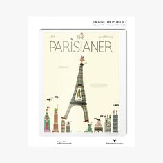 Affiche The Parisianer, Schamp  - IMAGE REPUBLIC - Find this product on Bon Marché website - Le Bon Marché Rive Gauche