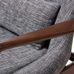Corrigan Studio Ayleen Armchair | Wayfair Mid Century Modern Living Room, Mid Century Modern Furniture, Living Room Sets, Living Room Chairs, Baxton Studio, Grey Wood, Grey Fabric, Mid-century Modern, Armchair