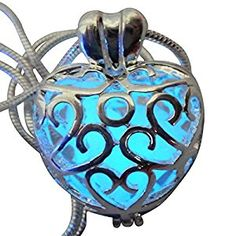 Amazon.com: Wishing Heart Fairy Magical Fairy Glow in the Dark Necklace-blue-sil: Jewelry