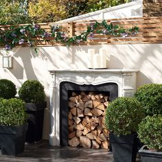 Also like a dedicated area for wood built into the side of fireplace