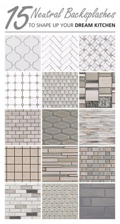 Kitchen Remodel Ideas Arabesque, elongated hexagon, and penny tiles, these neutral backsplashes are an instant win in any kitchen. What mosaic shape fits your style? Neutral Backsplash, House Design, Remodel, Penny Tile, Home Remodeling, Home Diy, Kitchen Renovation, Renovations, Farmhouse Kitchen