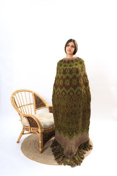 Nordic Pullover, Oversize Pullover, Nordic Sweater, Wool Poncho, Poncho Sweater, Loose Fit, Models, Wool Sweaters, Turtle Neck