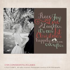 married and bright christmas card newlyweds by SimplyModernDesignx ...