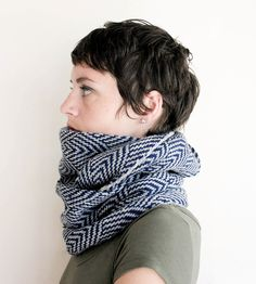 Navy & Grey Scallop Infinity Scarf | Women's Bags & Accessories | Sourpuss Knits | Scoutmob Shoppe | Product Detail