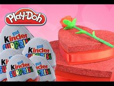 ▶ GIANT VALENTINES DAY SURPRISE HEART chocolate Play doh Kinder Surprise Huevos Sorpresa by DTSE Ditzy - YouTube