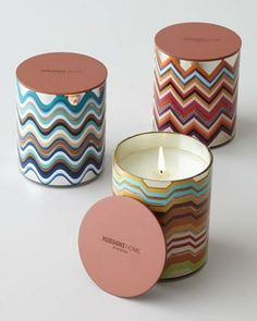 Beautiful Missoni candles make a great gift. #holidaygifts