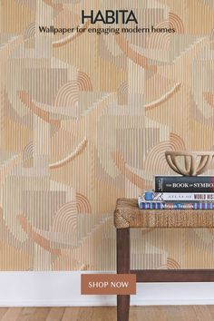 Habita Wallpaper for Engaging Modern Homes - Hand Painted, Sustainably Printed, Accent Wall Ready