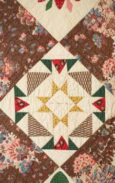 Quaker Album or Friendship Quilt :: Conner Prairie Museum Textile Collection Block detail