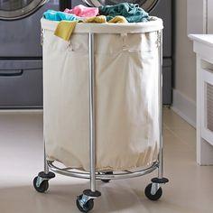 Oversized Chrome Laundry Hamper