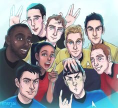 Star Trek Beyond group pic.. oops and Khan :D