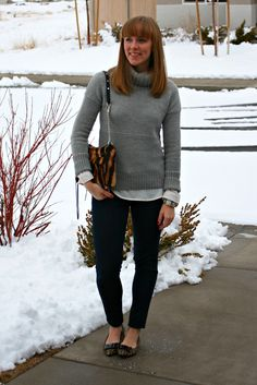 Turtleneck sweater w button up underneath