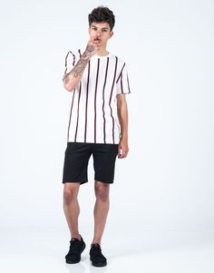 Camiseta rayas vino JVZ. Hipster, Polo, Sports, T Shirt, Style, Fashion, Knight, Stripes, Pants