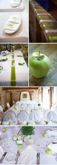 """Bernadette   Sebastian: Eine Hochzeit """"Grün wie ein Apfel"""" mit Langholz Fotodesign und Katecouples"""
